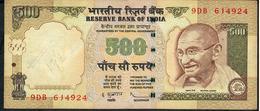 INDIA P99e1 500 RUPEES 2009 #9DB  NO LETTER Signature Subarrao AVF  NO P.h. - Inde