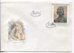 CSSR # 3072 FDC. Skulptur Von Auguste Rodin, Maler Bildhauer. Motiv  'Johannes Der Täufer'. Ersttagssonderstempel - FDC