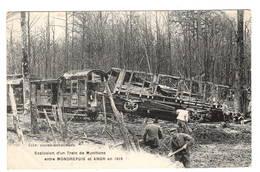 MONDREPUIS  ANOR  1919 Explosion D'un Train De Munitions.  Voyagé  Sept 1919. TTTTB état - War 1914-18