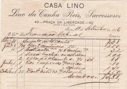 PORTUGAL COMMERCIAL INVOICE - PORTO - CASA LINO - Portugal
