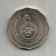 Australia 50th Anniversary Of Decimal Currency   50 Cents Australia  2016 - Monnaie Décimale (1966-...)