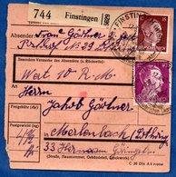 Colis Postal  -  Départ Finstingen  ( Fénétrange ) -   17/03/1943 - Covers & Documents