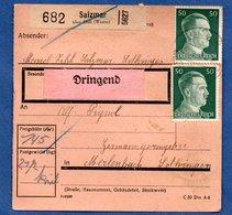 Colis Postal  -  Départ Salzmar ( Marsal )  -   22/9/1943 - Germany