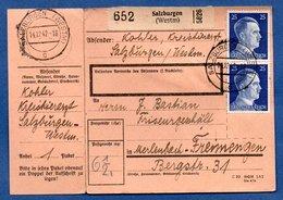 Colis Postal  -  Départ Salzburgen ( Château Salins)  -  Avec Son Rabat-   14/12/1942 - Germany