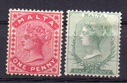 Sellos  Nº 5/6  Malta - Malta