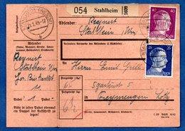 Colis Postal  -  Départ Stahlheim  ( Amnéville) -  Avec Son Rabat  -  21/1/1943 - Allemagne