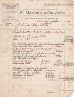 PORTUGAL COMMERCIAL INVOICE - PORTO - F. MENDES D'OLIVEIRA - Portugal