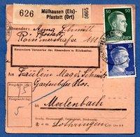 Colis Postal  -  Départ Mülhausen Pfastatt   -   -  13/12/1943 - Allemagne