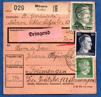 Colis Postal  -  Départ Mövern ( Moyeuvre Grande )  -  11/3/1943 - Allemagne