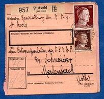 Colis Postal  -  Départ St Avold   -  19/3/1943 - Allemagne