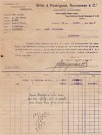 PORTUGAL COMMERCIAL INVOICE - PORTO - BRITO & RODRIGUES - Portugal