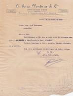 PORTUGAL COMMERCIAL INVOICE - PORTO -  A PERES VENTURA - FABRICA DE MOAGEM DO MARCO - Portugal