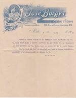PORTUGAL COMMERCIAL INVOICE - PORTO -  JOSÉ BORGES - ARMAZENS DE RENDAS E TECIDOS - Portugal