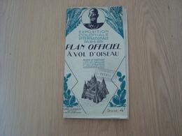 CARTE PLAN OFFICIEL A VOL D'OISEAU EXPOSITION COLONIALE INTERNATIONALE PARIS 1931 - Cartes