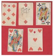 CARTES A JOUER -- SECOND EMPIRE -- 5 CARTES AVEC UNE PERFORATION. - Andere Sammlungen