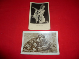 2 Cartoline Eleanor Boardman And John Gilbert Attrice * - Famous Ladies