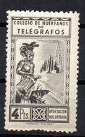 Sello De Huerfanos De Telegrafos 4 Ptas - España