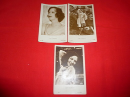 3 Cartoline Joan Crawford Attrice * - Berühmt Frauen