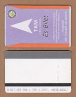 AC - SUBWAY MULTIPLE RIDE METROCARD, BUS CARD #38 ESKISEHIR, TURKEY PUBLIC TRANSPORT - Titres De Transport