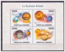 0580 Comores 2010 Sterren Planeten Solar System Systeme Solar Mars Venus Jupiter S/S MNH - Astrologie