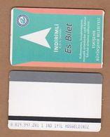 AC - SUBWAY MULTIPLE RIDE METROCARD, BUS CARD #39 ESKISEHIR, TURKEY PUBLIC TRANSPORT - Titres De Transport