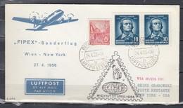 Brief Van Berlin Luftpoststelle Naar New York Usa Special Air Mail Vienna New York (354) - [6] Repubblica Democratica