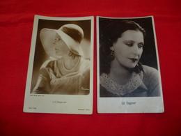 2 Cartoline Lil Dagover Attrice * - Donne Celebri