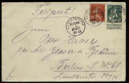 S6363 - DR WW I Belgien , Frankreich Briefmarken Auf Militär Feldpost Briefumschlag: Gebraucht Feldpost - Berlin 1915 - Germany