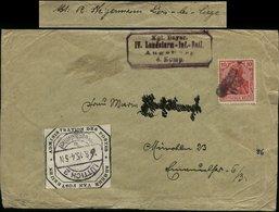 S6359 - DR Germania Auf WW I Besetzung Belgien Briefumschlag: Gebraucht Bayern Landsturm Augsburg ,Liege - Lüttich Bah - Lettres & Documents