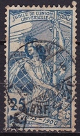 Switzerland / Schweiz / Suisse : 1900 25 Jahre UPU 25 C Hellblau Michel 73 II - Gebruikt