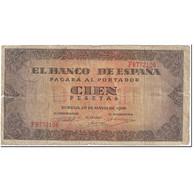 Billet, Espagne, 100 Pesetas, 1938, 1938-05-20, KM:113a, TB - [ 3] 1936-1975 : Régence De Franco