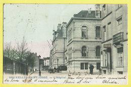 * Sint Joost Ten Node - Saint Josse (Bruxelles) * L'hopital, Estaminet Au Lancier, Animée, Clinique, Couleur, Char TOP - St-Josse-ten-Noode - St-Joost-ten-Node
