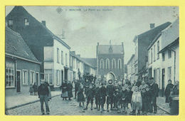 * Ninove (Oost Vlaanderen) * (SBP, Nr 1) La Porte Aux Vaches, Très Animée, Enfants, TOP, Unique, Prachtkaart, Zeldzaam - Ninove
