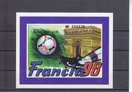 Soccer World Cup 1998 - EL SALVADOR - S/S MNH** - Coupe Du Monde