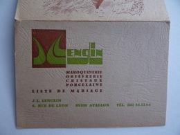 CALENDRIER De POCHE 1983 Maroquinerie Orfèvrerie LENGLIN à AVALLON 89 - Calendars