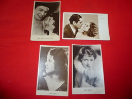 4 Cartoline Janet Gaynoe Attrice And Charles Morton Warner Baxter * - Donne Celebri