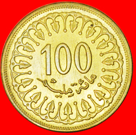 # BRONZE (1960-2013): TUNISIA ★ 100 MILLIEMES 1403-1983 UNC MINT LUSTER! LOW START ★ NO RESERVE! - Tunisie