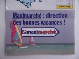 CALENDRIER De POCHE 1988 Publicité MAXIMARCHE à AVALLON 89 - Calendars