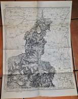 Rare Carte état Major Région Givet Model ? Révisée 1897 - 1914-18