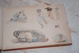 Carnet De Dessins Avec Un Lot De Gouaches Datant De 1847 Du Même Artiste.. Dimensions Du Carnet 28cm/40cm - Gouaches