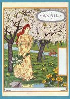 Eugène GRASSET - La Belle Jardinière - Avril - Malerei & Gemälde