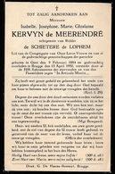 ADEL NOBLESSE   ISABELLE DE MEERENDRE  GENT 1884  BRUGGE 1950 - Obituary Notices