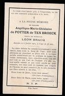 ADEL NOBLESSE   ANGELIQUE DE POTTER DE TEN BROECK   1903  56 JAAR OUD - Obituary Notices