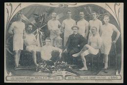 LES VAINQUERS DE HENLEY EN 1909 - ROYAL CLUB & ROYAL SPORT NAUTIQUE DE GAND - Aviron