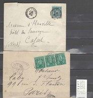 Lettre   Ambulant  Dunkerque à Arras - 2 Plis - Indice 7 - Postmark Collection (Covers)