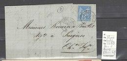 Lettre  Ambulant Paris à Amiens Pothion 628 1 : Indice 6 - Postmark Collection (Covers)