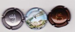 3 Capsules Muselets 1 Sanger Marron 1 Sanger Gris 1 Cancen Val De Loire Avec URL - Mousseux