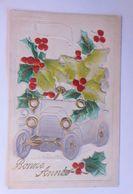 """""""Neujahr, Auto, Disteln"""" 1913, Relief ♥  - Neujahr"""