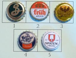 Lot N° 30-1 : 5 Capsules De Bière (parfait état - Pas De Trace De Décapsuleur) Beer - Cerveza - Birra - Bière