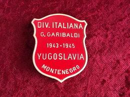 Distintivo Scudetto Divisione Partigiana Garibaldi Montenegro 1943/45 WW2 - 1939-45